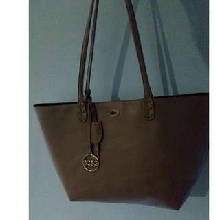 BCBG Paris 2 Piece Tote Handbag and Smaller Removable Inside Bag