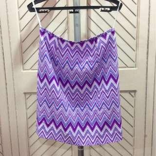 Purple Violet Tribal Skirt Zippered