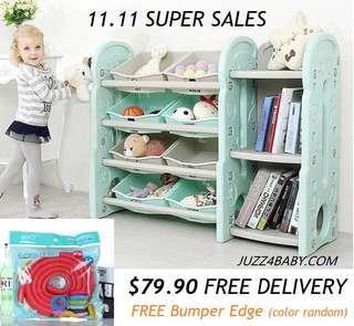 Free delivery kids toy rack bookshelf storage rack