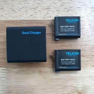 GoPro Hero 4 Battery & Charger