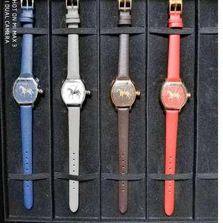 (100%new )Corinth 女裝真皮帶手錶