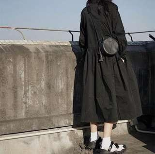 🚚 簡約暗黑日系連身裙