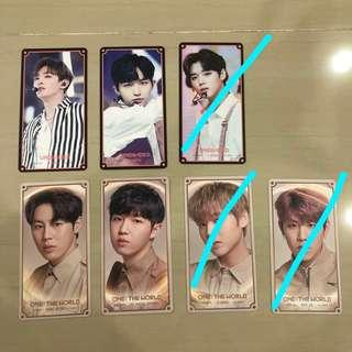 wanna one trading cards