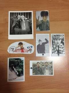 [FREEBIE] exo tao luhan suho stickers photocards