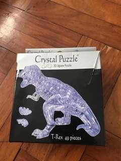 Crystal puzzle 3d jigsaw puzzle t-rex