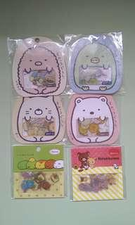 Sumikko Gurashi Rilakumma Stickers Flakes Seal