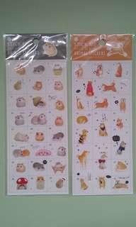 Dog hamster stickers