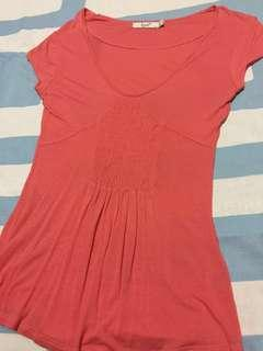 Sweet Coral Cool cotton causal tee top, women, daily wear, Super comfy material