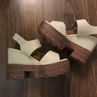 全新鬆高涼鞋