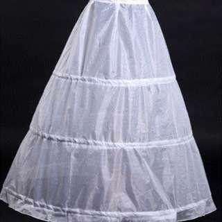 Wedding bridal gown petticoat (underskirt) - 3 hoops adjustable A-line design