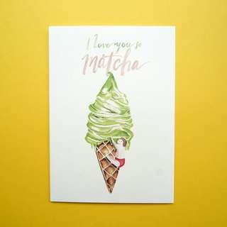📣LAST ONE LEFT📣 I Love You So Matcha Greeting Birthday Card