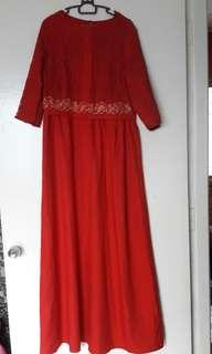 Red Flare Long dress