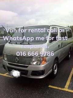 Van for rent / car for rent