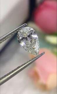 全天然鑽石水滴:1.10ct、J si1 特價