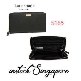 4c11a5d13d0d0 READY STOCK authentic new Kate Spade New York Laurel Way Neda Saffiano  Leather Zip Around Wallet