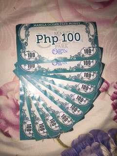 MANILA OCEAN PARK MONEY (worth 1,000php)