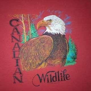 Vtg Canadian Wildlife Eagle  shirt
