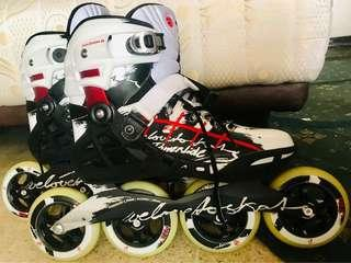 Powerslide phuzion 8 mint cond fullset no.43 sepatu roda, inline.