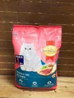 Smartheart Chicken and Tuna Cat Food 8 kilograms Smart Heart