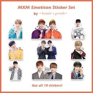 MXM Emoticon Sticker Set