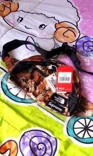 Brand New Supreme x North Face Nuptse Leaves Camo Waist Bag.
