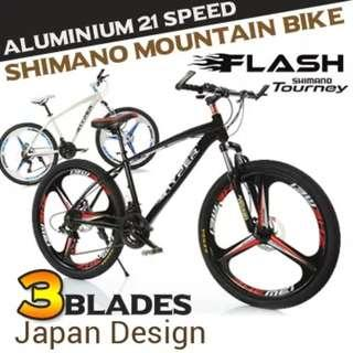 Promo-Brand new 26'' Mountain Bike, with Shimano 21 speed Shifter,Disc brakes,Front Suspension etc