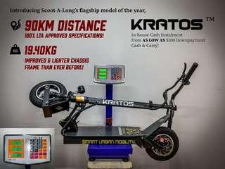 19.4KG Up to 90KM KRATOS Electric Scooter