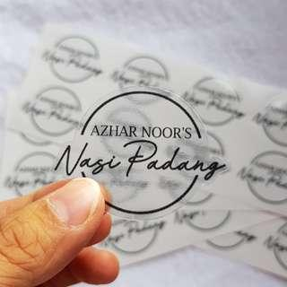 Transparent sticker label printing