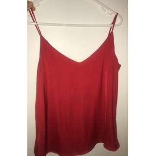 GLASSONS RED CAMI TOP SIZE 8 !!! BRAND NEW!!! (WITHOUT TAGS) $20 (RRP $29.95)
