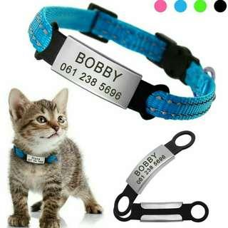 Customize Engraving Pet Collar With ID Tag For Kitten & Cat