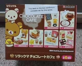 Rilakkuma miniatures Chocolate Cafe (Complete Set of 6)