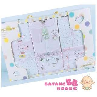 Summer Newborn Baby Gift Set of Cotton Set 11pcs With Baby Bed Quilt