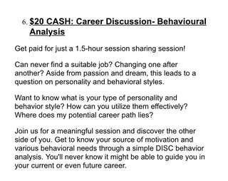 Career Discussion