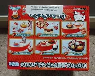 Hello Kitty miniatures Sushi Restaurant (Complete set of 6)