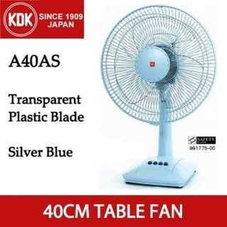 [BNIB] KDK A40AS Table Fan (Unfilled Warranty Card)