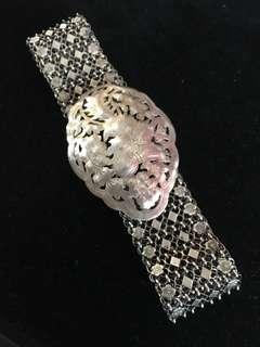 ⚜️True Vintage Peranakan 4-Links Silver Belt⚜️