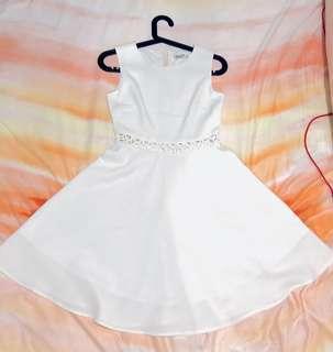 A-line White Dress