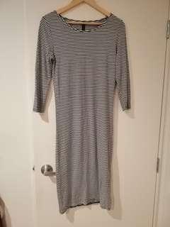 Stripy midi dress