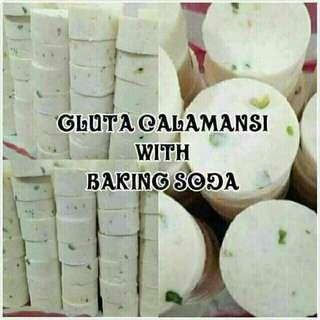 Gluta kalamansi with baking soda soap