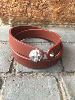 ⚜️925 Silver And Leather Band⚜️