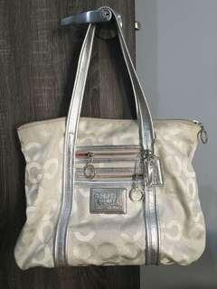 Coach poppy Handbag Silver