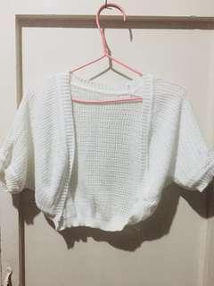 White Knitted Bolero