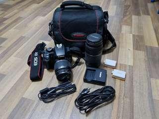 ♡Canon DSLR D1000 with 2 lenses