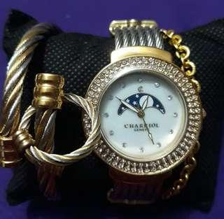 Budle price!! Charriol watch, bracelet and ring!!