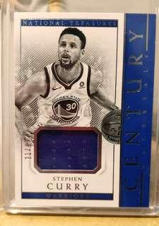 Stephen Curry National Treasures Century Materials