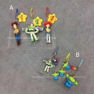 東京迪士尼 玩具總動員 胡迪 巴斯 翠絲 三眼怪 公仔 吊飾 鑰匙圈