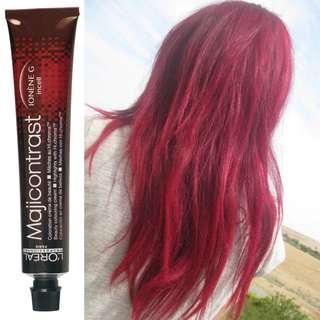 Red hair magicontrast hair dye DIY