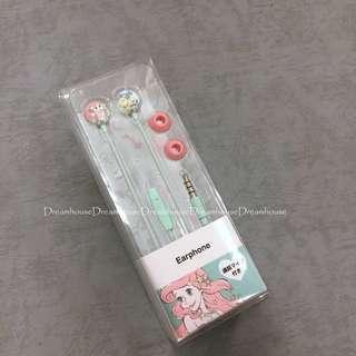 東京迪士尼 小美人魚 耳塞式 可通話 耳機