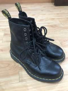 Dr Martens black leather boots