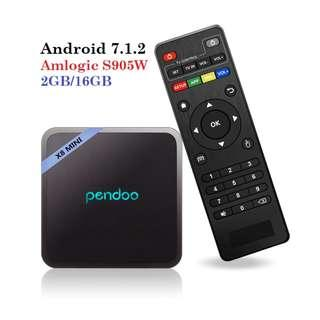 BEST ANDROID TV BOX 2/16GB FOR KODI AND MEDIA STEAMING - PENDOO MINI X8
